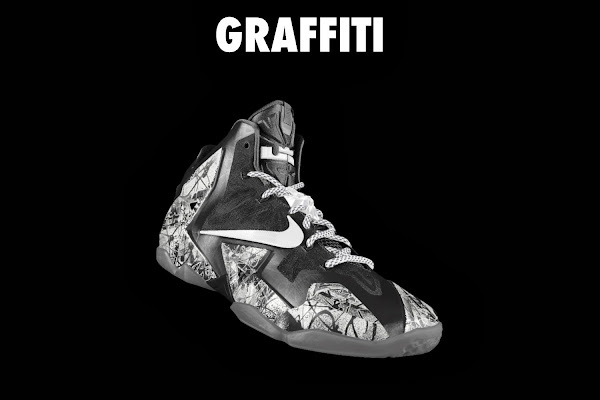 NIKEiD LeBron XI 8220Graffiti8221 in 7 Different Ways
