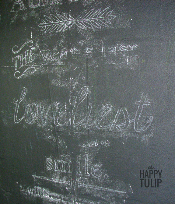 tutorial for how to create chalkboard art without needing great handwriting skills
