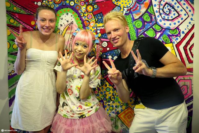 Lacey & Matt with Harajuku style icon and Kera Magazine model Haruka Kurebayashi in Harajuku, Tokyo, Japan