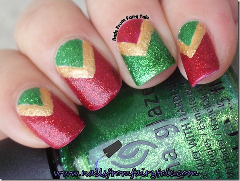 christmas v manicure 5