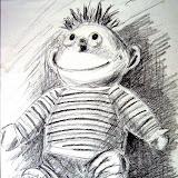 Ernie, houtskool