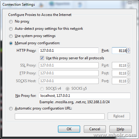 Setting Proxy di Browser - mboir