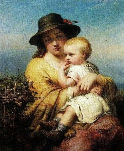 Mother and child James John Hill