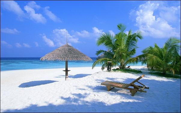 الجمال والسماء في المالديف