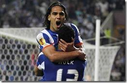 Hulk y Falcao en el Porto