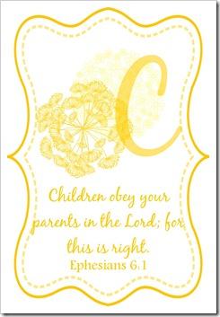 C - Eph 6 1