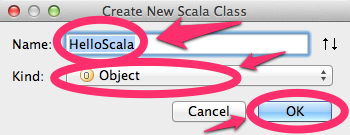 Create New Scala Class