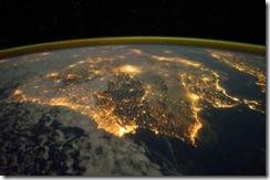 Peninsula Iberica - imagem NASA.Dez 2011