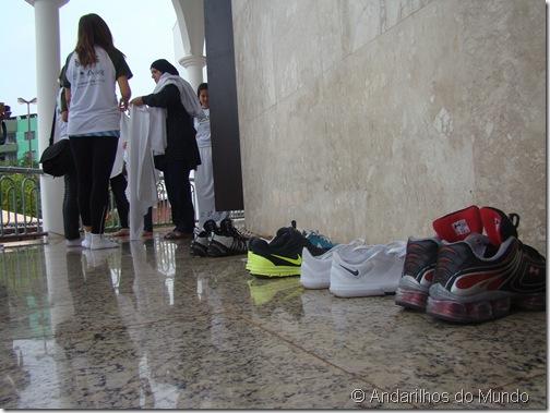 Mesquita em Foz do Iguaçu  - calçados ficam do lado de fora - #BlogTurFoz