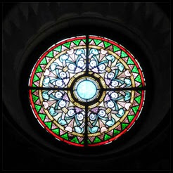 Cahors cathedral glass