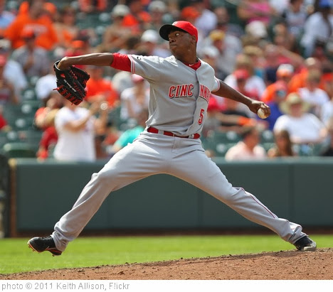 'Cincinnati Reds relief pitcher Aroldis Chapman (54)' photo (c) 2011, Keith Allison - license: http://creativecommons.org/licenses/by-sa/2.0/
