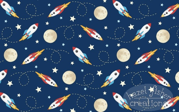 2015 Jan 27 Rockets Spoonflower fabric design Hazel Fisher Creations