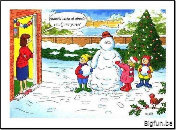 abuelo muñeco  de nieve 1