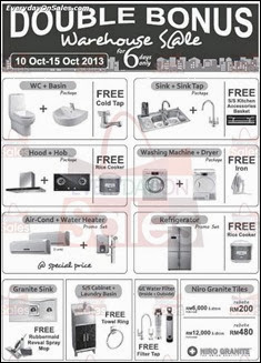 Double Bonus Warehouse Sale 2013 Malaysia Deals Offer Shopping EverydayOnSales