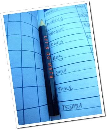 scorecard pencil