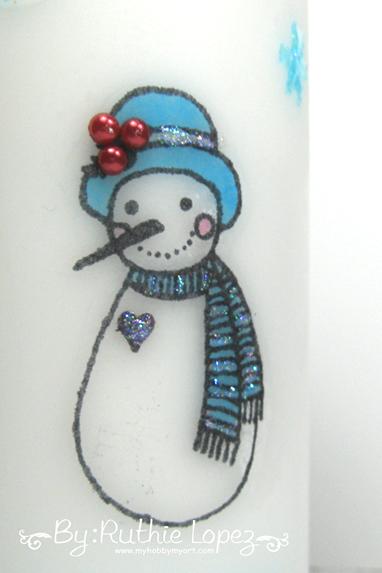 Color Paws - Navidad -Vela decorada - Ruthie Lopez 3
