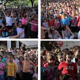 Bayonne rive droite la Place des Gascons envahies par des centaines d'enfants