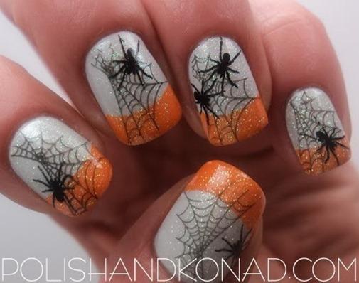 spider-halloween-nail-art