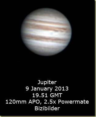 9 January 2013 Jupiter Reprocess