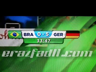 Keputusan Brazil vs Jerman Piala Dunia 2014