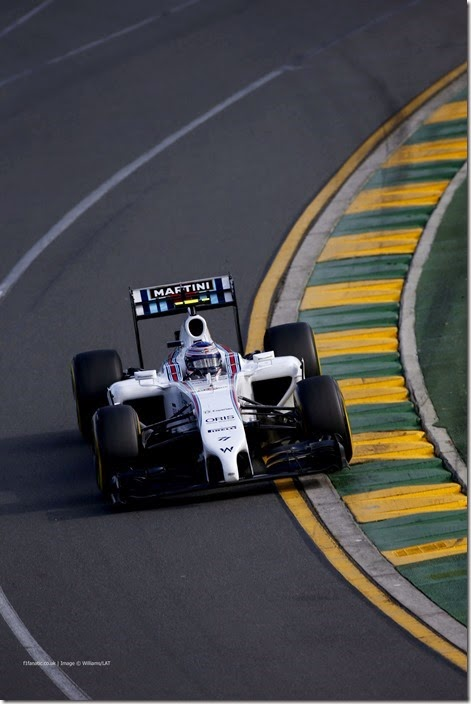 Albert Park, Melbourne, Australia. Sunday 16 March 2014. Valterri Bottas, Williams FW36 Mercedes. Photo: Glenn Dunbar/Williams F1. ref: Digital Image _W2Q3030