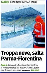 TROPPA NEVE GAZZETTA DI PARMA PRIMA PAGINA 12 02 2012