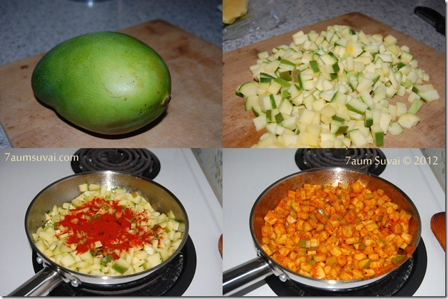 Mango pickle process
