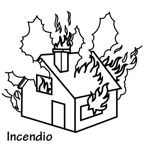 Excelente Casa En Llamas Para Colorear Imágenes - Ideas Para ...