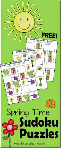 math worksheet : spring sudoku puzzles for kids : Math Sudoku Worksheets