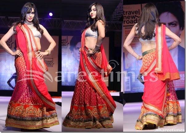 Adah_Sharma_Red_Lehenga