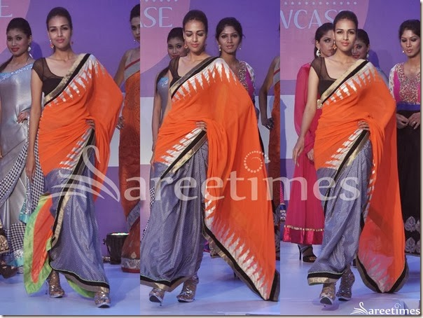 Orange_Grey_Half_and_Half_Saree