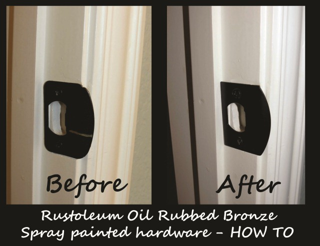 Style with cents spray painted hardware what works for How to spray paint doors