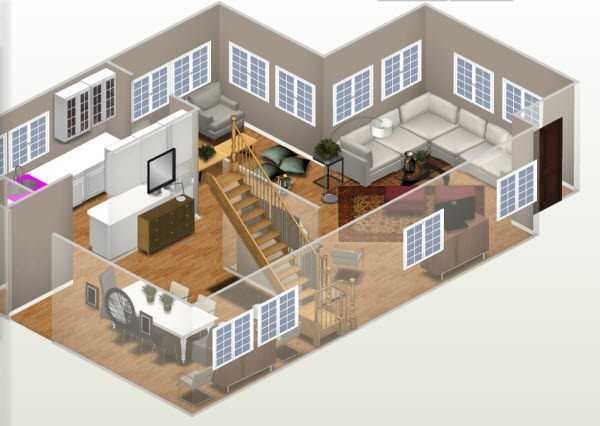Autodesk homestyler online home design app with realistic for Homestyler 3d