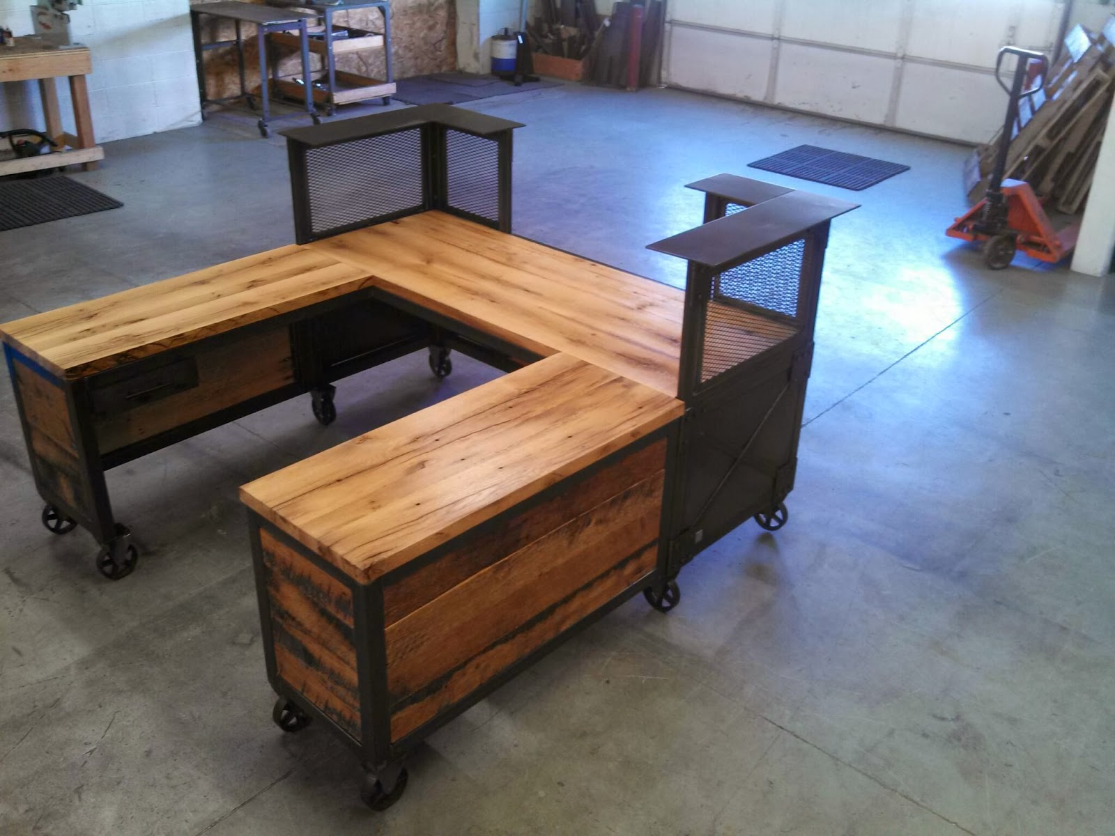 Real Industrial Edge Furniture Llc Industrial Reception Desk