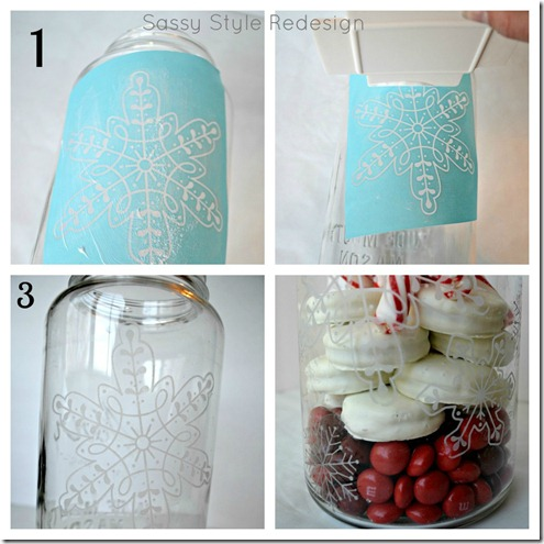 snowflake jar tutorial collage