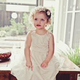 Sitting Pretty by Alan Evans - Wedding Other ( child, girl, children candid, wedding, aj photography, children, candid, pretty )