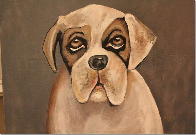 bulldog amanda painted
