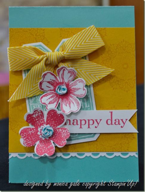 Stampin'Up! Flower Shop, Happy Day, Chalk Talk