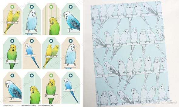 2013April10 Budgie printable gift wrap and tag sheets