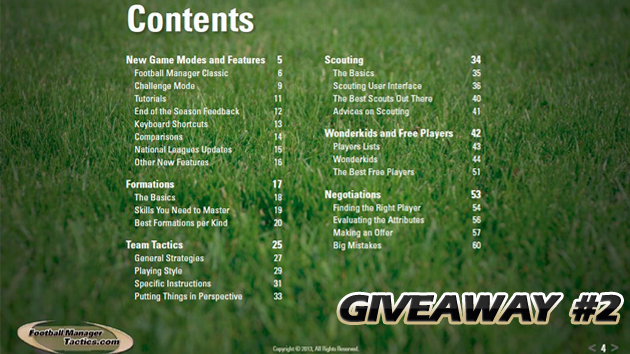 The Premier Guide to FM 2013 Giveaway #2