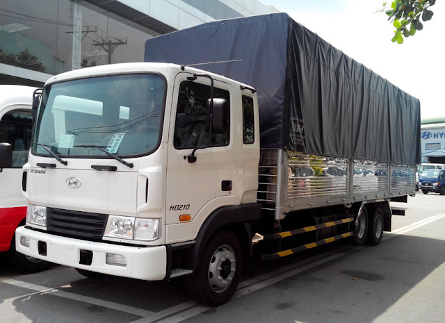 Xe tải 13,5 tấn hyundai hd210 thùng bạt