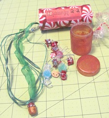 AAWA 2012 12 days swap day 2 unwrapped Alisha necklace goodies 3