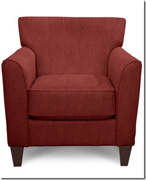Allegra chair_401 in red fabric chosen by Carole