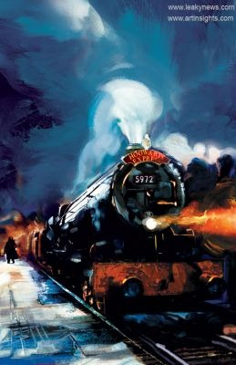 hogwarts express painting by jim salvati