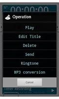 Screenshot of VoiceRecorder Pro