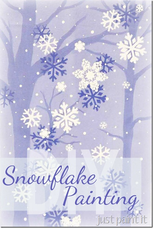 Holiday crafts: How to make an easy snowflake painting