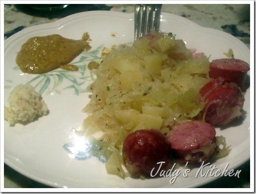 grandpa's sauerkraut & kielbasa