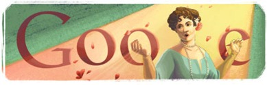Dame Nellie Melba's 150th Birthday-Google Logo