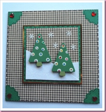 Gingham Christmas Tree Card