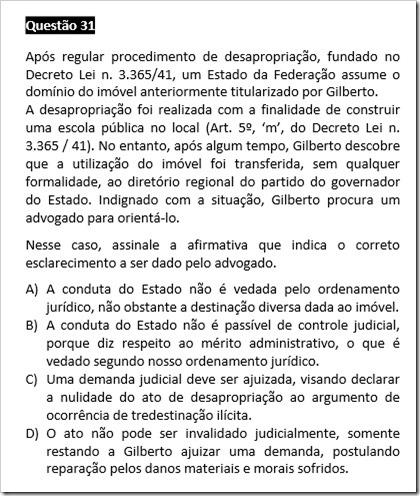QUESTÃO ANULADA PÓS RECURSOS - XI EXAME